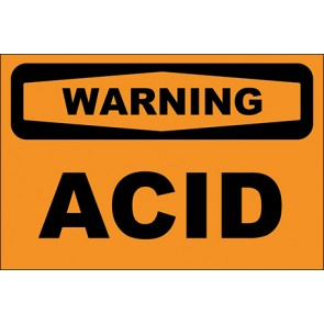 Aufkleber Acid · Warning · OSHA Arbeitsschutz