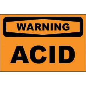Hinweisschild Acid · Warning · OSHA Arbeitsschutz