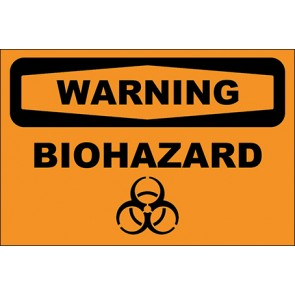 Hinweisschild Biohazard · Warning · OSHA Arbeitsschutz