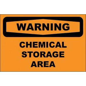 Magnetschild Chemical Storage Area · Warning