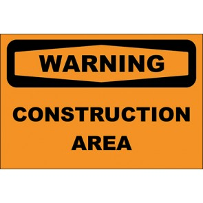 Aufkleber Construction Area · Warning · OSHA Arbeitsschutz