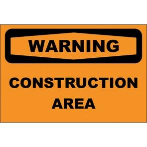 Hinweisschild Construction Area · Warning · OSHA Arbeitsschutz