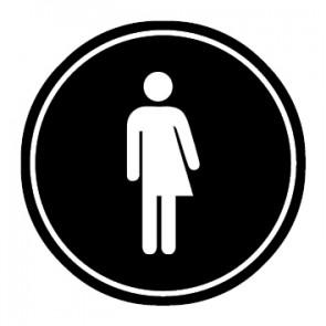 WC Toiletten Aufkleber | Transgender | schwarz · rund