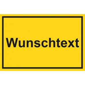 Garderobenschild Wunschtext · gelb