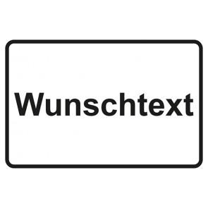 Garderobenschild Wunschtext · weiss - schwarz