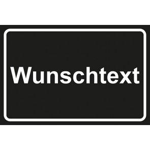 Garderobenschild Wunschtext · schwarz - weiß