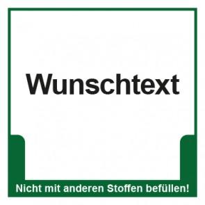 Magnetschild Mülltrennung Umweltschutz Wunschtext