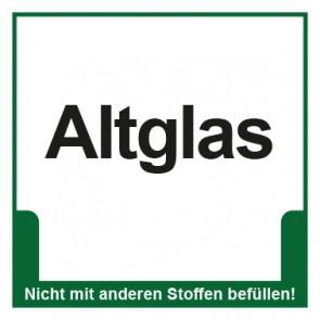 Magnetschild Mülltrennung Umweltschutz Altglas