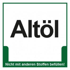 Magnetschild Mülltrennung Umweltschutz Altöl