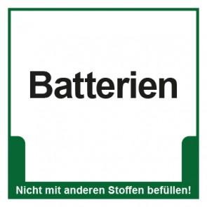 Magnetschild Mülltrennung Umweltschutz Batterien