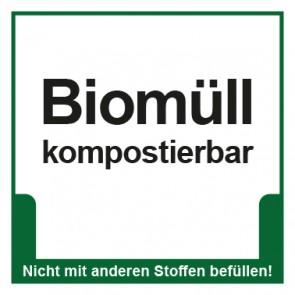Magnetschild Mülltrennung Umweltschutz Biomüll kompostierbar
