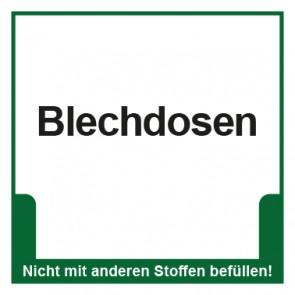 Magnetschild Mülltrennung Umweltschutz Blechdosen