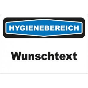Hinweisschild Hygienebereich Wunschtext | MAGNETSCHILD