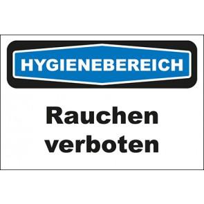 Hinweis-Aufkleber Hygienebereich Rauchen verboten
