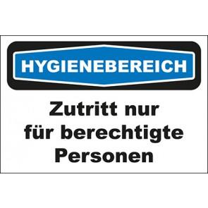 Hinweisschild Hygienebereich Zutritt nur für berechtigte Personen · MAGNETSCHILD