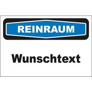 Hinweisschild Reinraum Wunschtext · MAGNETSCHILD