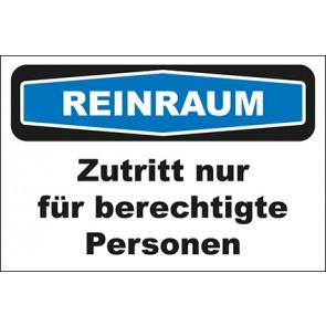 Hinweisschild Reinraum Zutritt nur für berechtigte Personen · MAGNETSCHILD