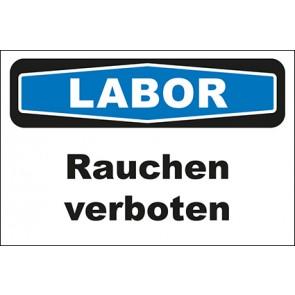 Hinweis-Aufkleber Labor Rauchen verboten