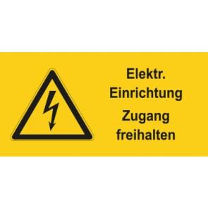 Warnhinweis Magnetschild Elektrotechnik Elektrische Einrichtung Zugang freihalten · mit Warnzeichen