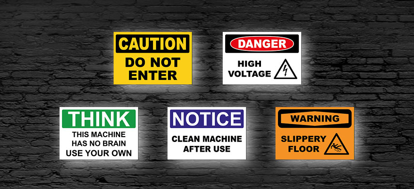 O.S.H.A. Safety Signs
